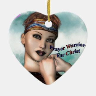 Prayer Warrior Christmas Ornament