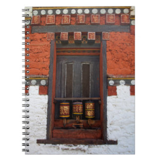 Prayer Wheels At Temple Notebooks