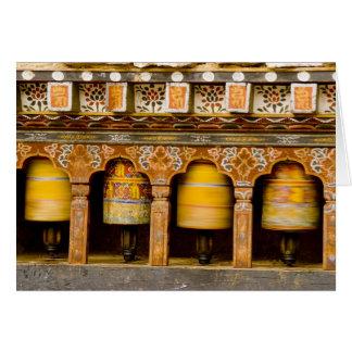 Prayer Wheels, Mani Wheel at Trongsa Dzong, Greeting Card