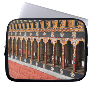 Prayer Wheels of the central square in Thimphu Laptop Sleeve