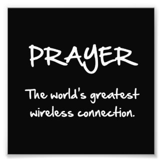 Prayer Wireless Photographic Print