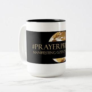 #PRAYERPRENEUR - MANIFESTING GOD ON ASSIGNMENT TM Two-Tone COFFEE MUG