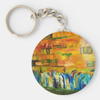 PRAYERS AT THE WAILING WALL from original oil pai Key Chain