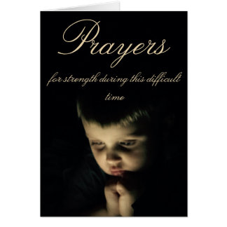 Prayers during difficult times card
