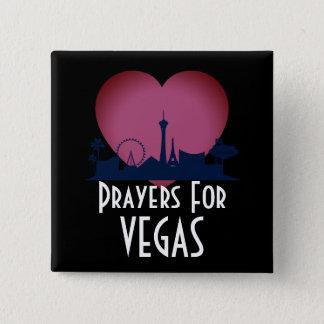 Prayers For Las Vegas 15 Cm Square Badge