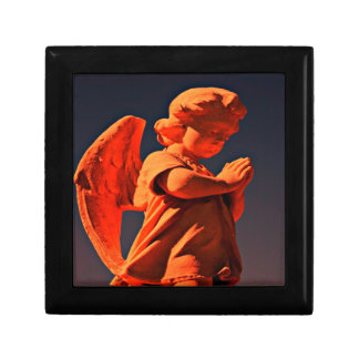 Praying angel keepsake giftbox small square gift box