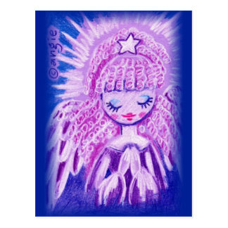Praying Angel with Curls Postcard
