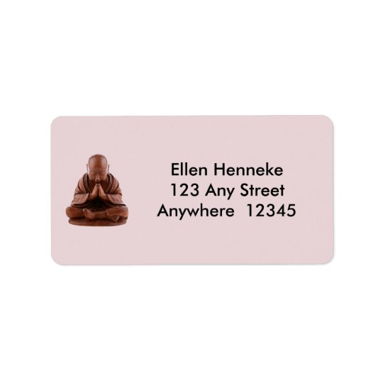 Praying Buddha Address Label