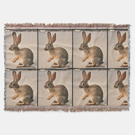 Praying Bunny Custom Throw Blanket
