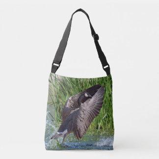 Praying Canada Goose Crossbody Bag