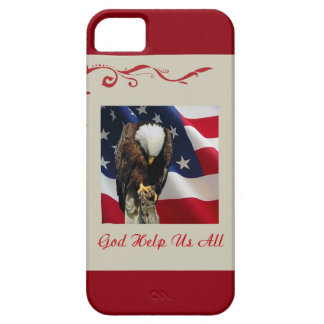 Praying Eagle American Flag sad red white blue iPhone 5 Case
