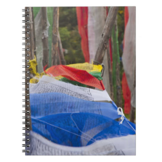 Praying flag poles in mountain, Yotongla Pass 3 Note Books