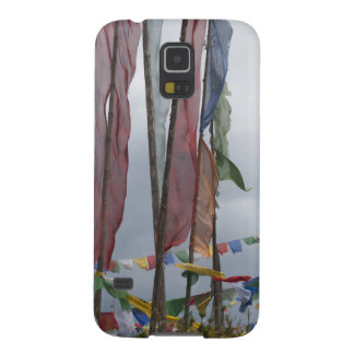Praying flag poles in mountain, Yotongla Pass Galaxy S5 Case