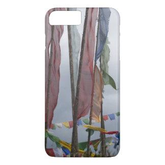 Praying flag poles in mountain, Yotongla Pass iPhone 8 Plus/7 Plus Case