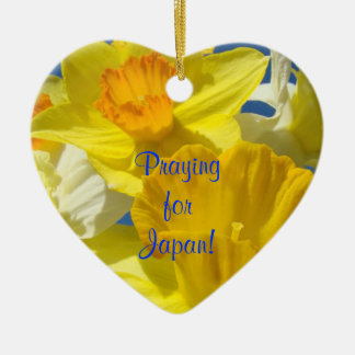 Praying for Japan! gifts hanging Ornaments Flowers