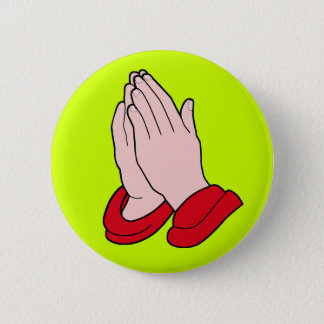PRAYING HANDS 6 CM ROUND BADGE