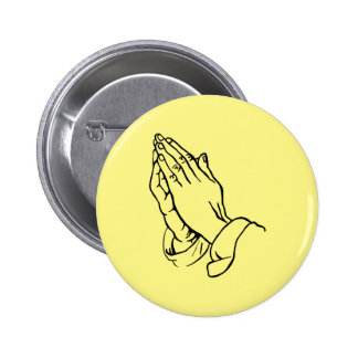 Praying Hands 6 Cm Round Badge