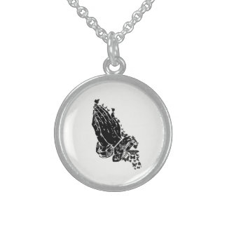 Praying hands and butterflies Necklace