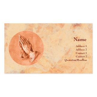 Praying Hands Business Card Template