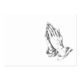 Praying hands business card templates