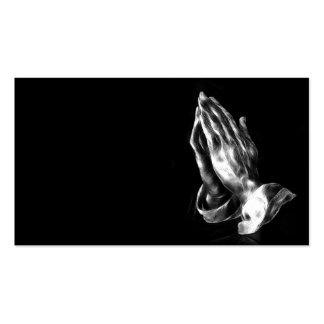 Praying hands business cards
