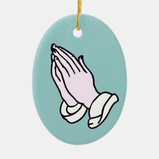 Praying Hands Christmas Ornament