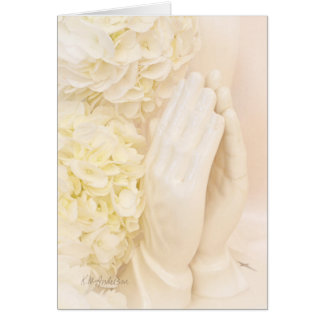 Praying hands from Grandmother Greeting Card