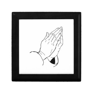 PRAYING HANDS SMALL SQUARE GIFT BOX