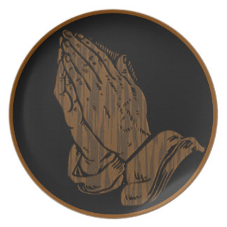 PRAYING HANDS PARTY PLATE