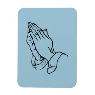 Praying Hands Rectangular Photo Magnet