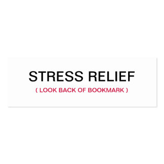 Praying Hands Stress Relief Bookmark Business Card Templates