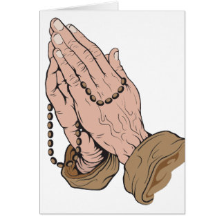 Praying Hands with Beads Note Card