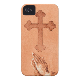 Praying Hands with Cross Case-Mate iPhone 4 Case