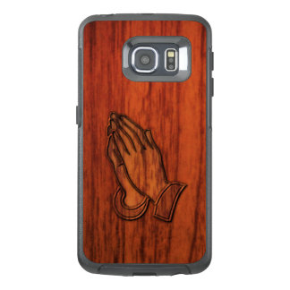 Praying Hands Wood Print OtterBox Samsung Galaxy S6 Edge Case