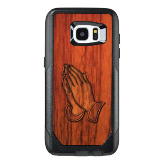 Praying Hands Wood Print OtterBox Samsung Galaxy S7 Edge Case