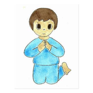 Praying Little Boy Postcard