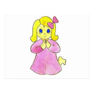 Praying Little Girl Postcard