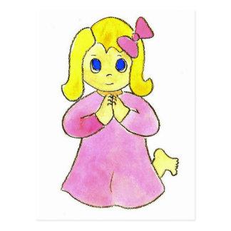 Praying Little Girl Post Cards