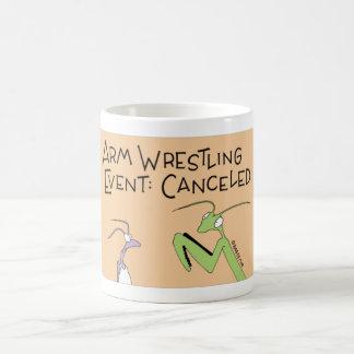 Praying Mantis arm wrestling Coffee Mug