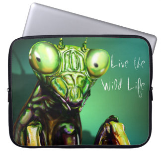 Praying Mantis - Live the Wild Life / Laptop Sleev Laptop Sleeve