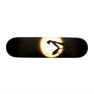 Praying Mantis Silhouette Skateboard Deck