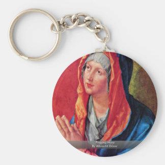 Praying Mary By Albrecht Dürer Key Chain