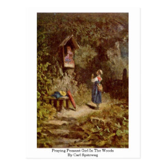 Praying Peasant Girl In The Woods By Carl Spitzweg Postcard