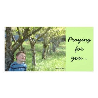 Praying Picture Card