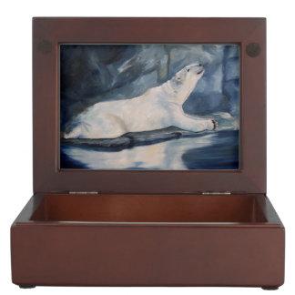 Praying Polar Bear Memory Box
