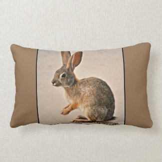 Praying Sonoran Bunny Lumbar Accent Pillow
