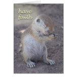 Praying Squirrel Card