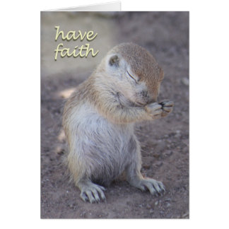Praying Squirrel Card