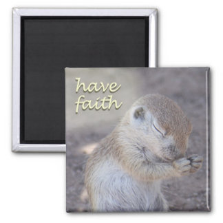 Praying Squirrel Magnet