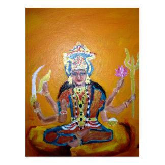 Praying to Durga Postcard